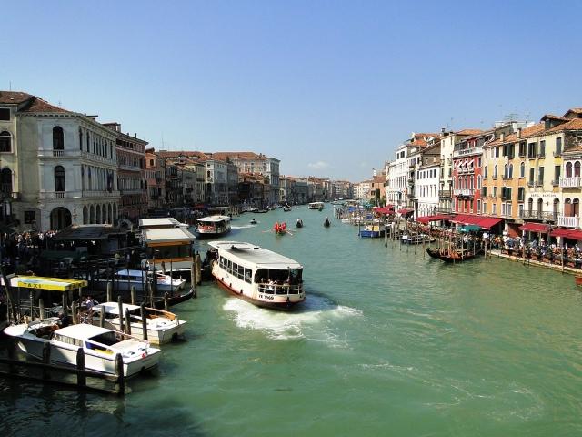 Wenecja widok na Canal Grande z mostu Rialto