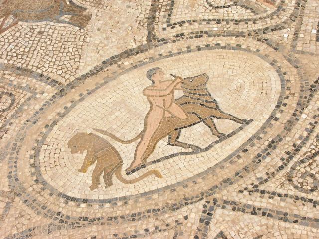 Rzymskie mozaiki w Volubilis (2005)