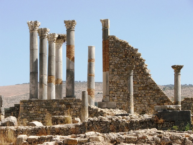 Ruiny rzymskiego miasta w Volubilis (2005)