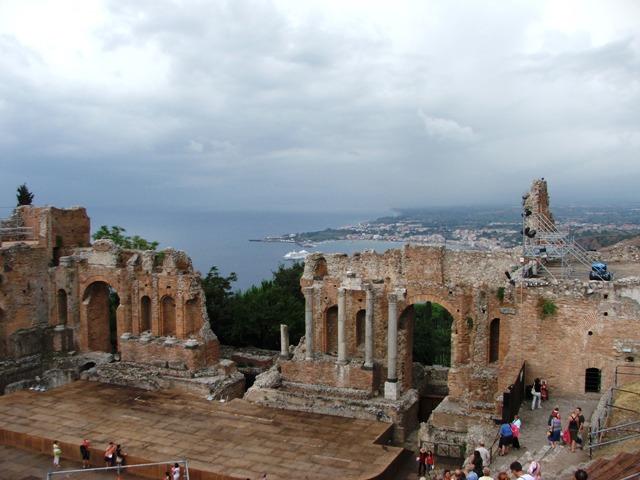 Teatr grecki w Taorminie (Sycylia, 2008)