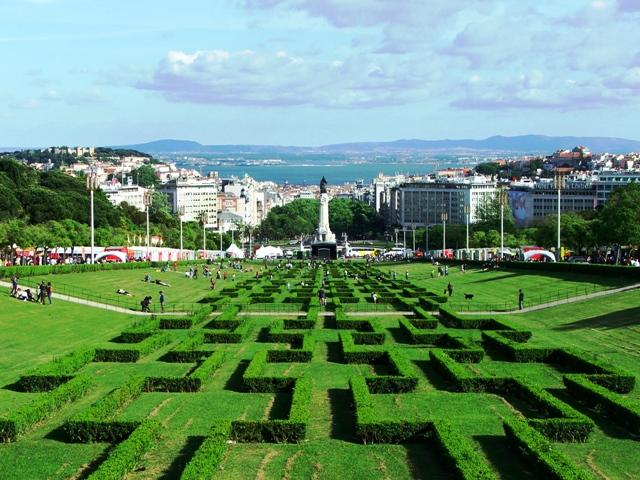 Park Edwarda VII - ogród w stylu francuskim na przedłużeniu Avenida da Liberdade (2010)