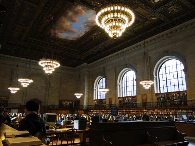 Czytelnia główna w Nowojorskiej Bibliotece Publicznej (2013)