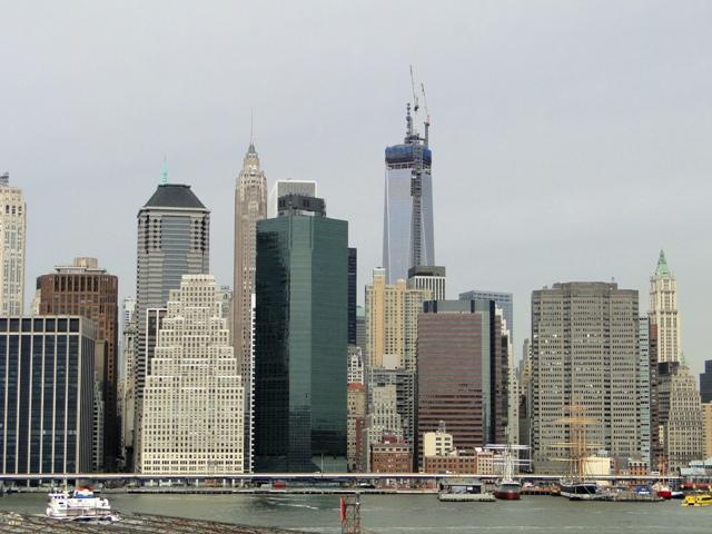 Dolny Manhattan widziany z Brooklyn Heights Promenade (2013)