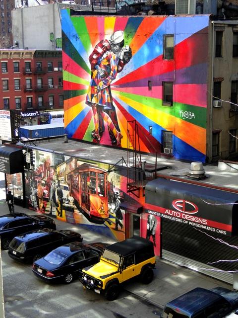 Mural widziany z parku The High Line (2013)