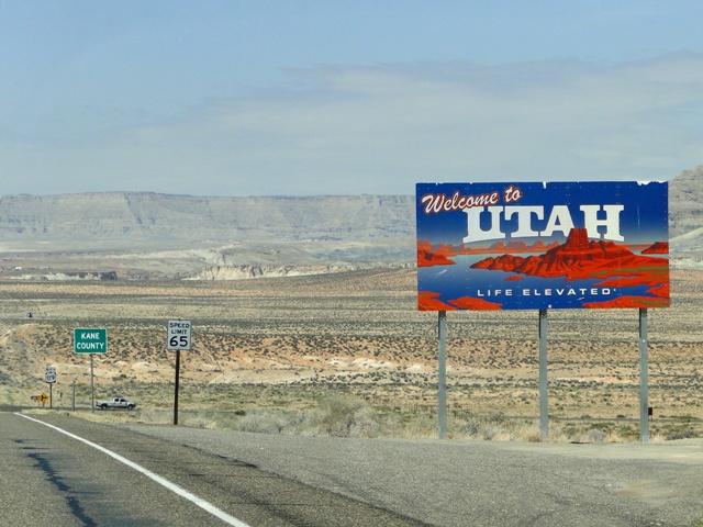 Droga 89 z Page w stanie Arizona do Kanab w stanie Utah (2013)