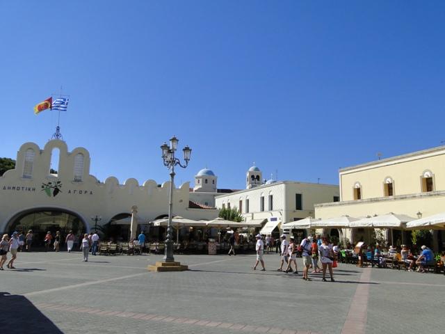 Plac Wolności w centrum miasta Kos, stolicy wyspy Kos (21-28.09.2013)