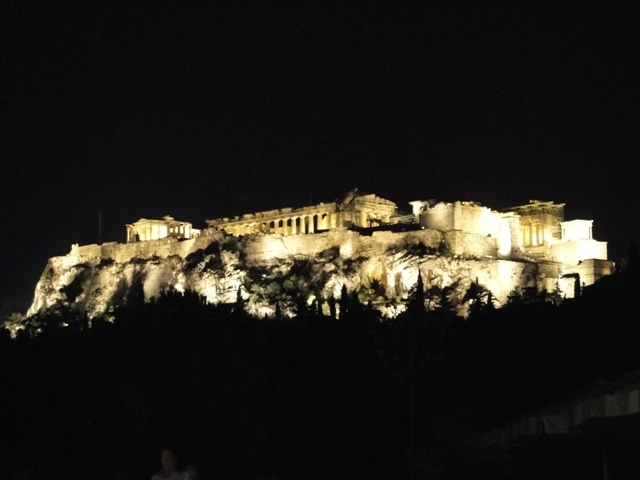 Akropol nocą / Acropolis at night (9-11.11.2013)
