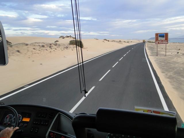 Droga do Corralejo przez wydmy Parku Narodowego Corralejo (6-13.01.2013)