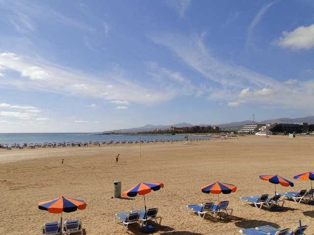 Plaża miejska w Caleta de Fuste (6-13.01.2013)