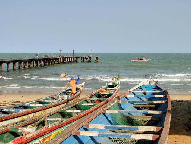 Przystań rybacka w Bakau, Gambia (11-17.01.2014)