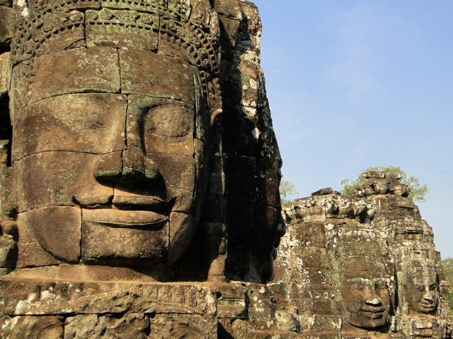 Słynne kamienne twarze w Świątyni Bayon (07.01.2016)